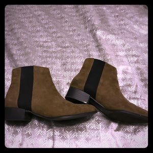 Olive ankle boot